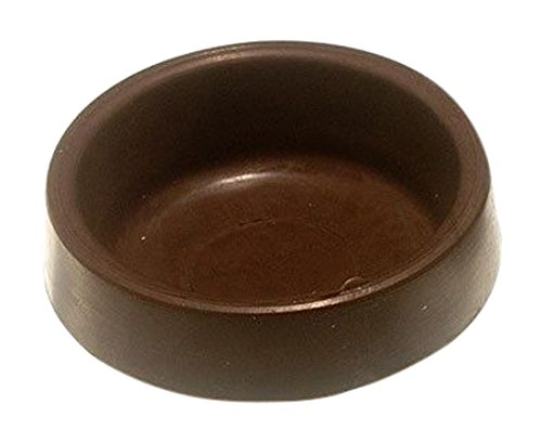 Pack of 4 Merriway BH04805 Brown Castor Cup-Outer Dimension 65 mm or 2.5 or 8-inch Set of 4 Pieces