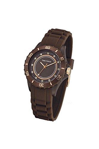 TIME FORCE Reloj Analógico para Mujer de Cuarzo con Correa en Caucho TF4024L15: Amazon.es: Relojes