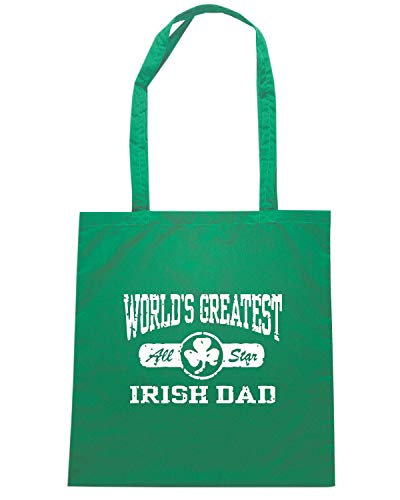 Shirt GREATEST Verde WORLDS DAD TIR0225 IRISH Speed Shopper Borsa dPqwWOxtY