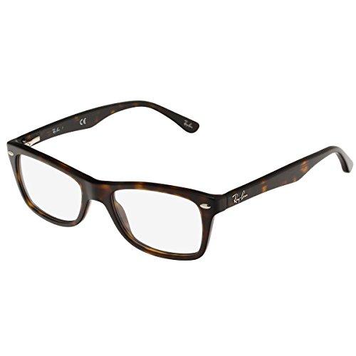 Ray-Ban Women's Rx5228 Square Eyeglasses,Dark Havana,50 mm