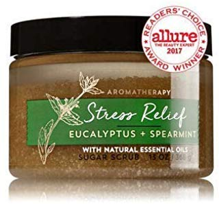 Bath & Body Works AROMATHERAPY Stress Relief Eucalyptus Spearmint Sugar Scrub 13 Fl Oz