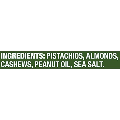 PLANTERS Pistachio Lover's Mix, 1.15 lb. Resealable Canister - Deluxe Pistachio Mix: Pistachios, Almonds & Cashews Roasted in Peanut Oil with Sea Salt - Kosher, Savory Snack