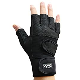 Weight lifting Fitness Training Gloves Gym Workout fingerless gloves, black