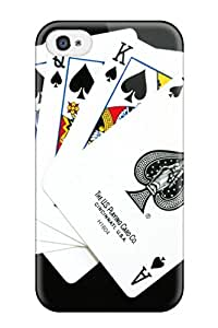 Hot Snap On Hard Case Cover Poker Protector For Iphone 4/4s