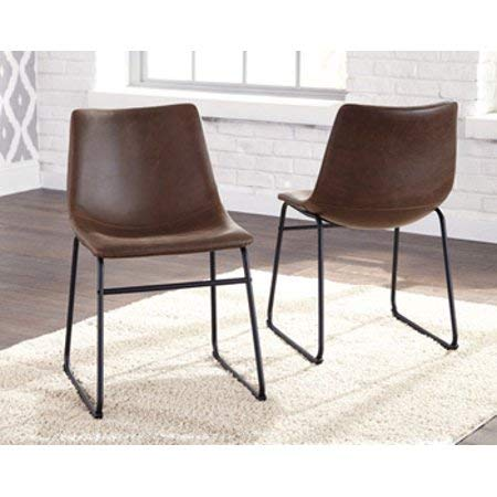 Amazon Com Vintage Faux Leather Padded Side Chair Set Of