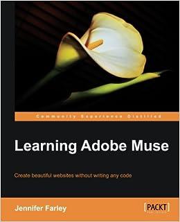 Learning Adobe Muse: Amazon co uk: Farley Jennifer