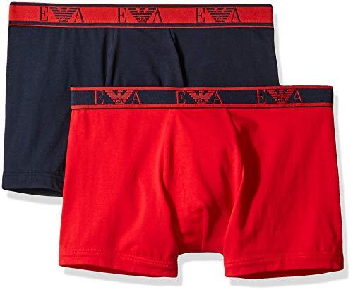 - Emporio Armani Men's Monogram 2-Pack Boxer Brief, red/Marine Large