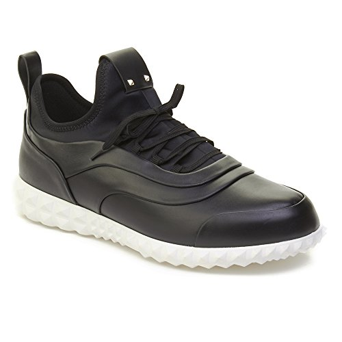 Valentino Mens Leather Rockstud Trainer Sneaker Shoes Black pq9AuTyoFD