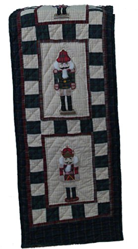 Heirloom Nutcracker - Nutcracker Plaid Quilted Table Runner Quilt 72