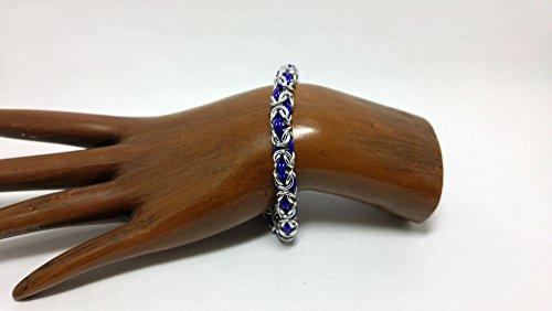 bracelet, woven bracelet, chainmaille bracelet, byzantine - Byzantine Chainmaille Link