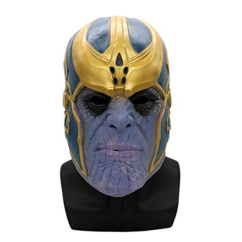 Simply-Me Cosplay Thanos Masks for Adults, Teens Latex Luxury Face Masks on Halloween Party
