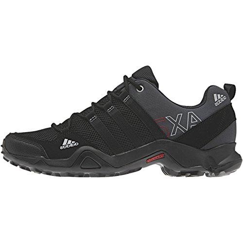 adidas Outdoor Men's Ax2 Hiking Shoe, Dark Shale/Black/Light Scarlet, 11 M US