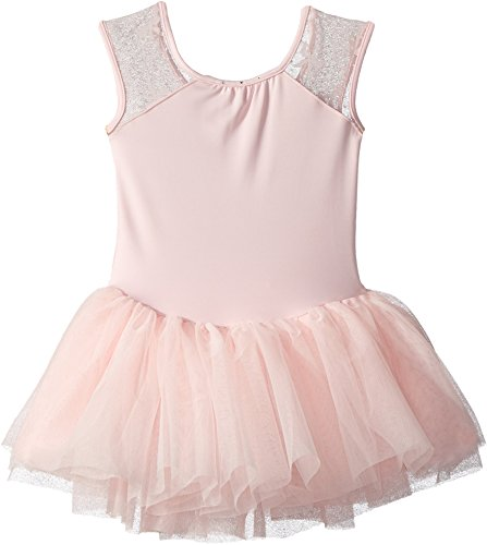Bloch Kids Baby Girl's Cap Sleeve Bow Mesh Tutu Leotard (Toddler/Little Kids/Big Kids) Candy Pink 8-10