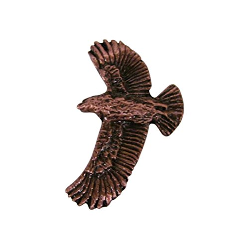 Creative Pewter Designs, Pewter Red-Tailed Hawk, Handcrafted Bird Lapel Pin Brooch, Copper Plated, BC056