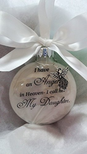 (Child Memorial Christmas Ornament Sympathy Gift - Angel in Heaven I Call Her My Daughter)