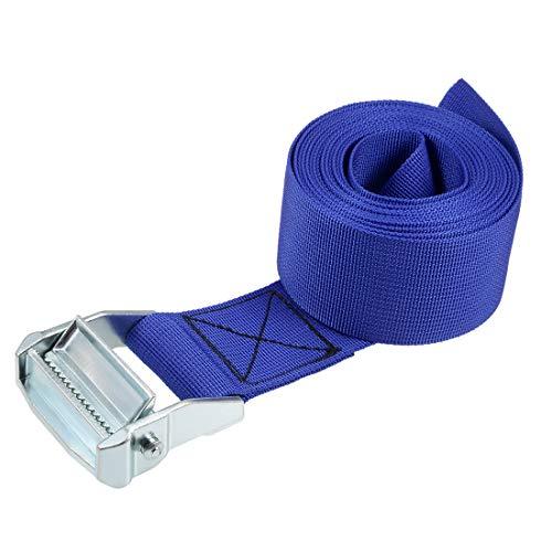 uxcell 荷物ストラップ ラッシングストラップ ベルト 荷物固定ロープ 荷物落下防止 3.5Mx5cm 500Kg ブルー タイダウンストラップ 1個入り