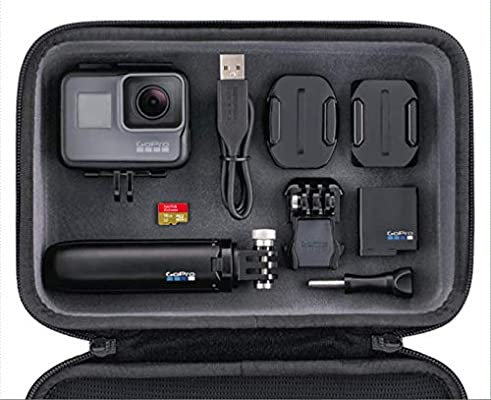 Pack GoPro Hero5 Black - Cámara deportiva 12 MP (4K, 1080p, WIFI + Bluetooth, control por voz, pantalla táctil) + GoPro Shorty (vara de extensión y ...