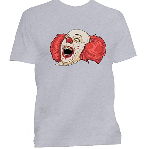 Evil Clown Halloween T Shirt Medium Grey]()