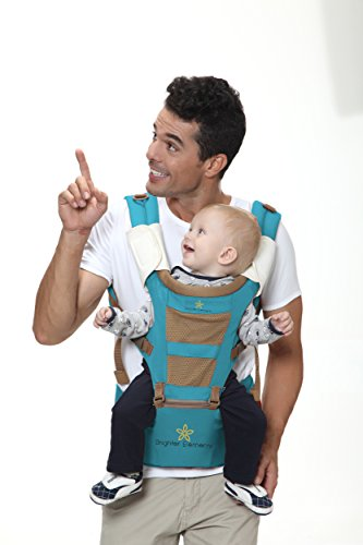 TOP #1 BABY CARRIER with HIP SEAT, New Design Ergonomic Style, Great Quality & 5 Carrying Positions, Front, Backpack, and Kangaroo, Perfect for Infant & Toddler, Best Baby Shower Gift!
