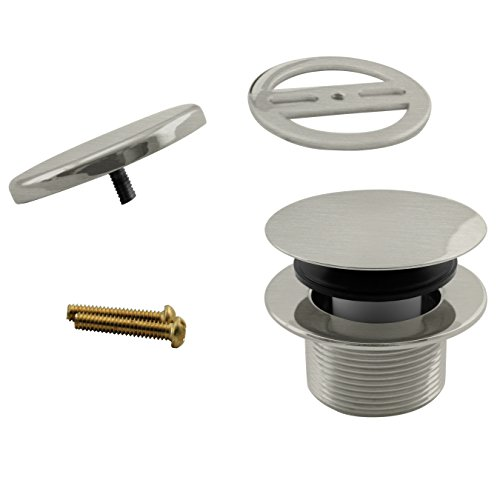 Westbrass Mushroom Tip-Toe Tub Trim Set with Floating Faceplate, Stainless Steel, D398RK-20