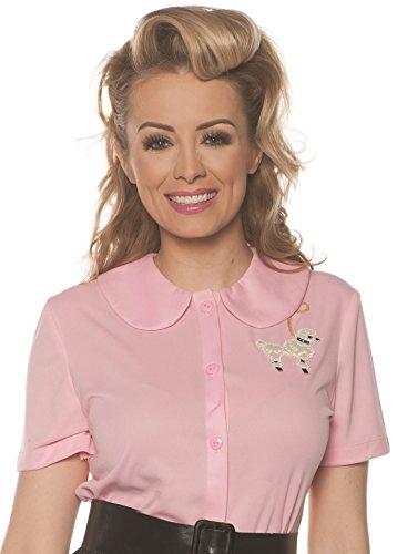(Underwraps Women's 1950's Poodle Shirt Costume-Pink,)