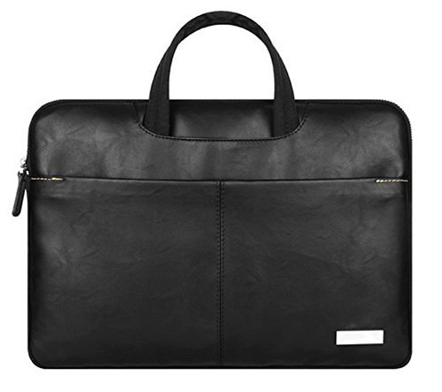 Carry360 13.3-Inch PU Leather Laptop and Tablet Expandable handbag Black