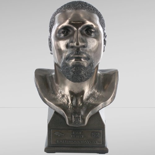 NFL Baltimore Ravens Ray Lewis Bronze Limited Edition Collectible Bust by Forever Collectibles