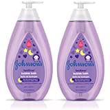 Johnson's Bedtime Baby Bubble Bath Wash with NaturalCalm Aromas for Nighttime, Hypoallergenic and Sulfate-Free, 27.1 fl. oz (Pack of 2)
