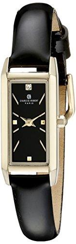 Charles-Hubert, Paris Women's 6911-B Premium Collection Analog Display Japanese Quartz Black Watch
