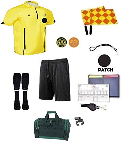 - Referee 12 Piece Soccer Package Referee Short Flag Whistles Duffel Bag Coin ... (Yellow, AM)