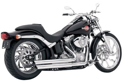 - Vance and Hines Double Barrel Staggered Chrome Full System Exhaust for Harley D - One Size