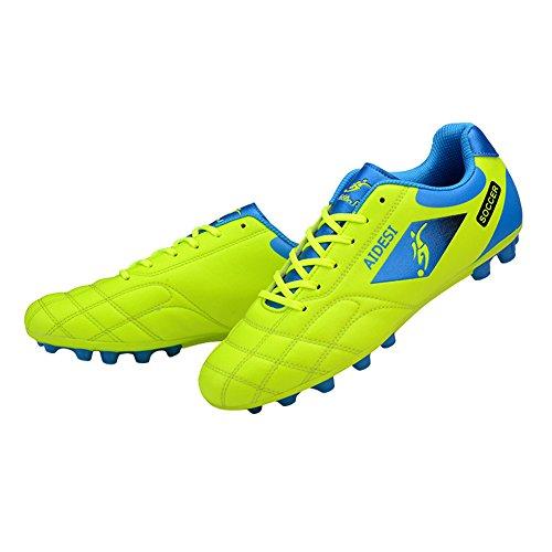 Genda 2Archer Los Zapatos Atléticos No-Deslizadizos del Fútbol de los Hombres Calzan los Zapatos Corrientes de los Zapatos que Suben Verde