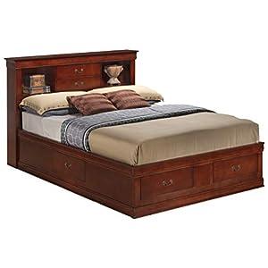 Glory Furniture Queen Storage Bed, Cherry
