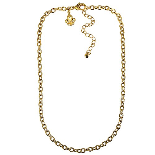 Ritzy Couture by Esme Hecht Cable Link Signature Chain Necklace w/3