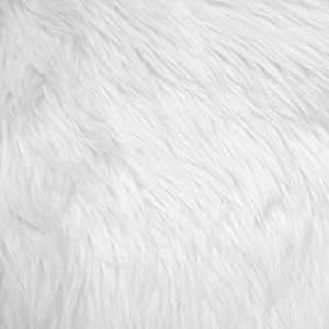 white shag faux fur fabric 60 wide high quality. Black Bedroom Furniture Sets. Home Design Ideas