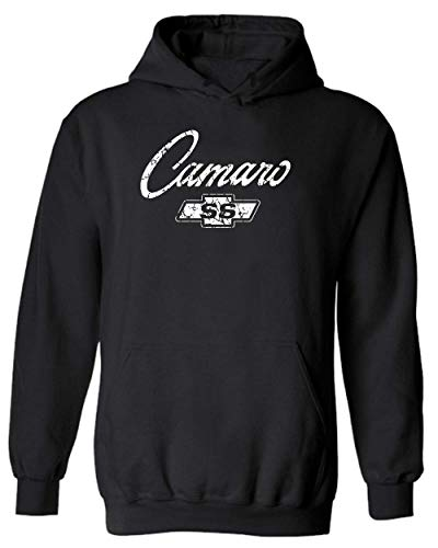 Chevy Camaro SS Classic American Muscle Car Hoodie (L, Black)