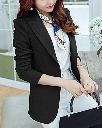 Manica Giacca Di Schwarz Primaverile Donna Eleganti Con Fit Lunga Da Solidi Bolawoo Classica Blazer Autunno Moda Cappotto Tempo Tailleur Tasche Mode Colori Business Slim Libero Marca Button qFaEzxX5w