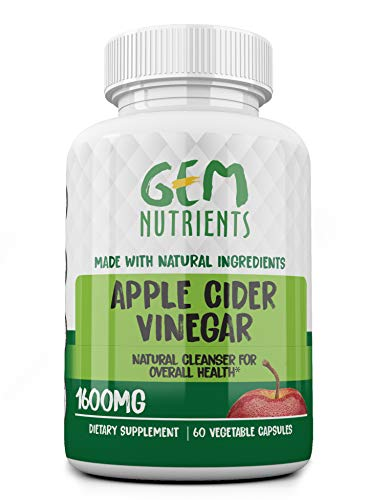 Gem Nutrients All-Natural Apple Cider Vinegar Capsules – 1600Mg Apple Cider Vinegar Dietary Supplement – Ideal for Weight Loss, Detox, Healthy Digestion – Stronger Immune System – Appetite Suppressor Review