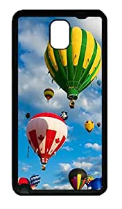 Galaxy Note 3 Case, Note 3 Cases - Blue Sky And Balloons Soft Rubber Bumper Case for Samsung Galaxy Note 3 N9000 TPU Black
