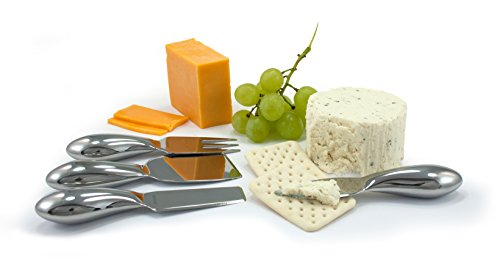 - Oneida 4-Piece Cheese Tool Set, Stainless Steel