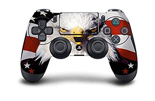 (USA Eagle) Exclusive Custom PS4 Controller Available in Over 30 Unique Hand-Airbrushed Designs