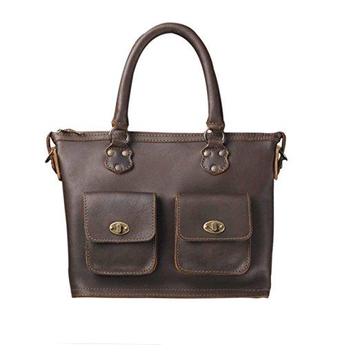 Love 41 Full Grain Leather Classic Crossbody Tote Handbag Purse for Women Includes 41 Year Warranty ()