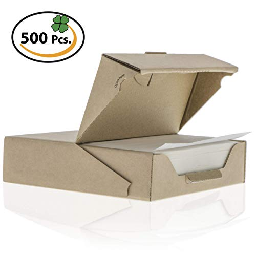 ZeZaZu Parchment Paper squares 5.5 x 5.5 inches (500 sheets) - for baking, Hamburger | Dual Coated Non-stick, convenient recyclable dispenser box by ZEZAZU