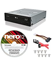 LG WH14NS40 14X Internal Blu-ray M-DISC Burner 3D Playback + Free Nero 12 Essentials Burning Software + Sata Cable Kit