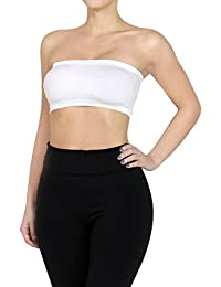 FandS Women's Solid Stretch Seamless Tube Top Bandeau(COMBO PACK AVAILABLE)