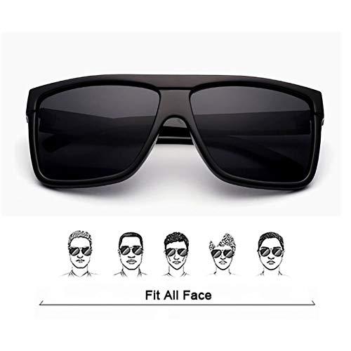 Gafas Sol Marco de de para Mujer de para Sol HD Pareja Gafas Gran Ultravioleta So Sol Grande Hombre Estilo tamaño de Unisex Cool Gafas de UV400 de Black White Negro de Retro con conducción r5EXzqwr