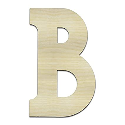 Amazoncom Unfinished Wooden Letters B Beta 24 Tall Large