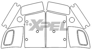 XPEL H0401 Clear Headlamp Signal Lamp and Fog Lamp Protection Kit