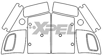 XPEL H1610 Clear Headlamp and Fog Lamp Protection Kit