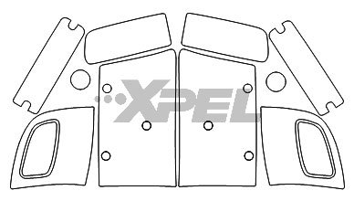 XPEL H2422 Clear Headlamp and Fog Lamp Protection Kit Weathertech